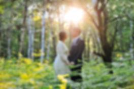 Sénce couple mariage fôret