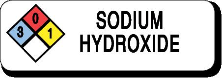 Sodium Hydroxide Label 3