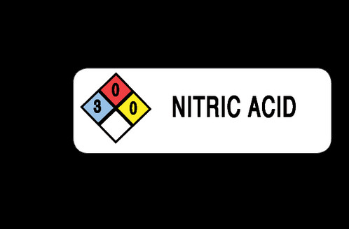 Nitric Acid Label 3 X 1 Sku Lw 0079