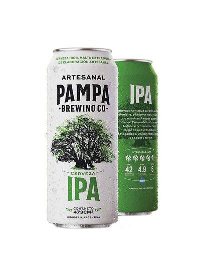 Cerveza Artesanal Pampa Brewing IPA en lata x 473 cc