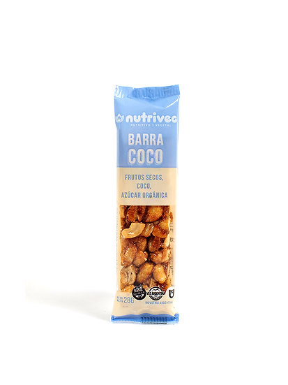 Barra de Frutos Secos Nutriveg Coco x 28 g