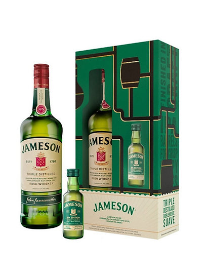 Whiskey Jameson 750 cc + Mini Ipa 50 cc En Estuche Regalo