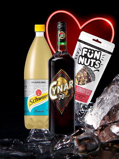 CYNAR 70+ SCHWEPPES POMELO +FUN NUTS DE REGALO!