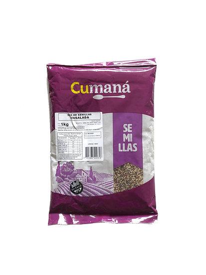 Mix de Semillas para Ensalada, Girasol, Chia, Sésamo Integral, Lino x 1kg
