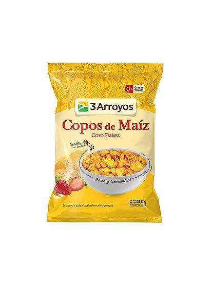 Cereales Copos de Maíz, 3 Arroyos x 400 g