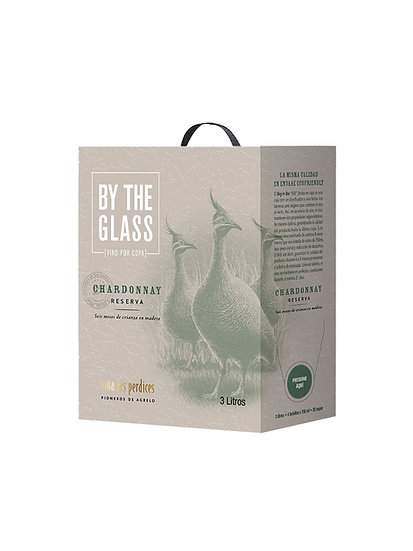 By The Glass Bag In Box, Chardonnay Reserva x 3 L, Viña Las Perdices