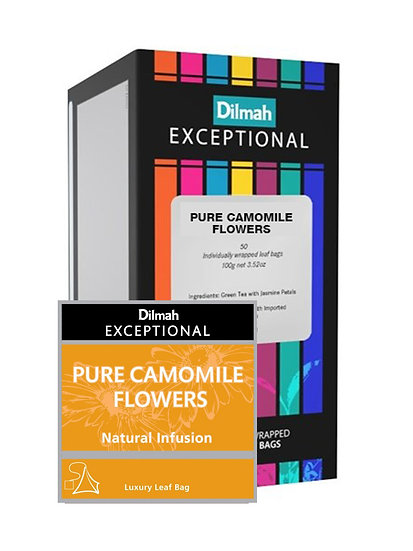 Té Dilmah Exceptional Pure Camomile Flowers