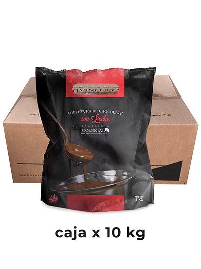 Chocolate Cobertura con Leche, caja x 10 Kg