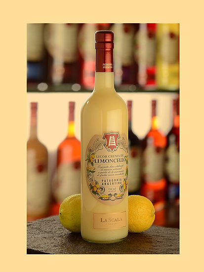 Licor de crema de limoncello - La Scala x 750 ml