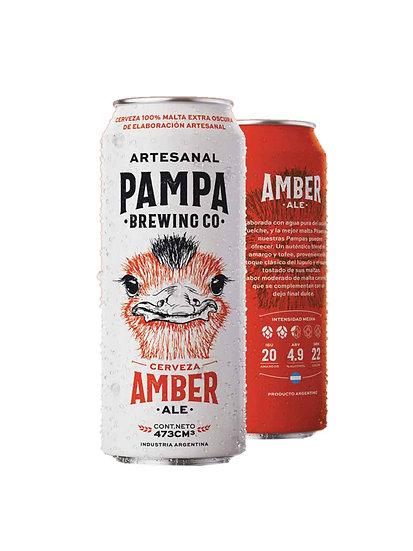 Cerveza Artesanal Pampa Brewing Amber Ale en lata x 473 cc