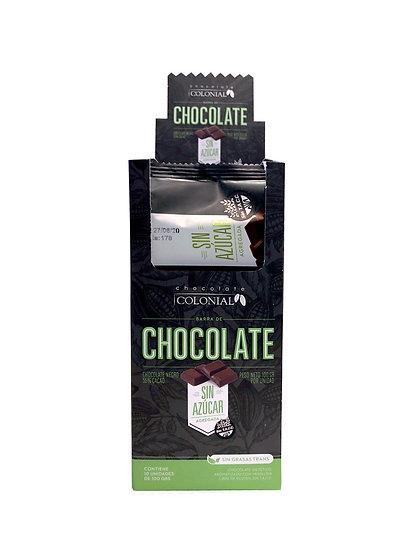 Chocolate sin azúcar - 55% cacao x 10 u
