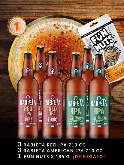 PROMO BEER 1, 6 Botellas de 710 ml