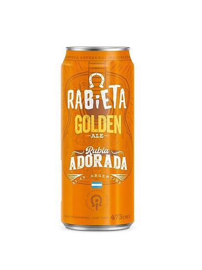 Cerveza Rabieta Golden en lata x 473 cc