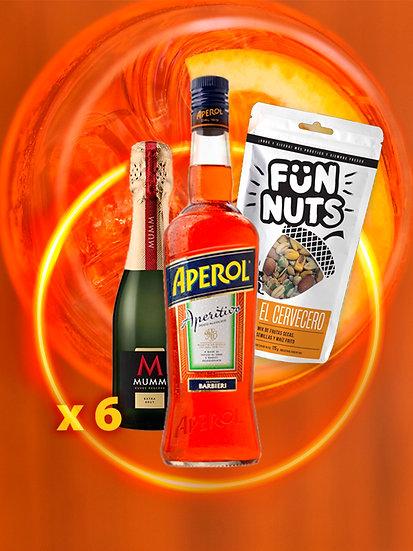 APEROL + 6 MUMM 187 + FUN NUTS DE REGALO!