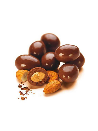 Almendras Bañadas en Chocolate Negro x 1 kg