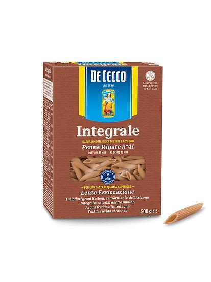 Pasta Penne Rigate Integral, De Cecco x 500 g