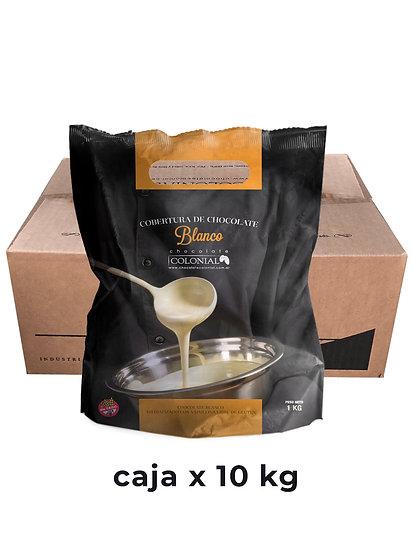 Chocolate Cobertura Blanco, caja x 10 Kg