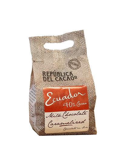 Chocolate Cobertura Leche Caramelizado 40% Ecuador - Rep. del Cacao x1 kg