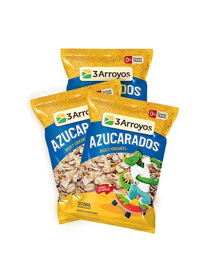 Cereales Copos de Maíz Azucarados x 3 u de 500 g, 3 Arroyos
