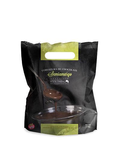 Chocolate Cobertura Semi Amargo x 1 kg
