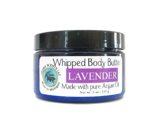 Lavender Argan Body Butter -Scented with Essential Oils