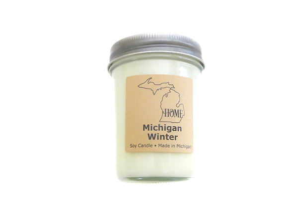 Michigan Winter Candle