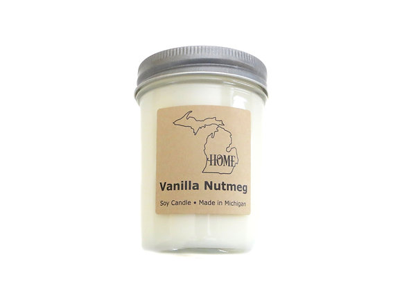Vanilla Nutmeg Soy Candle -  Winter Candles