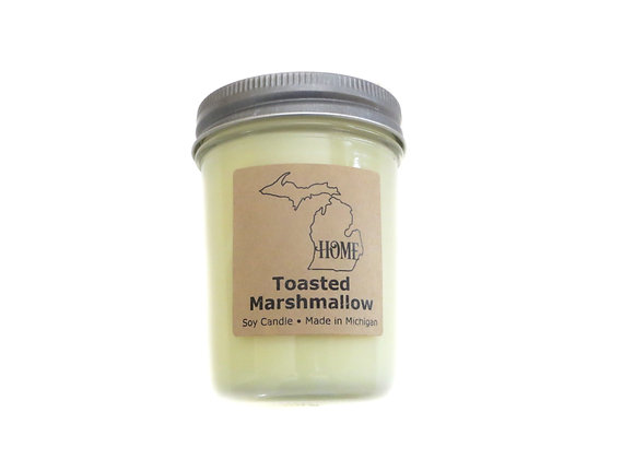Toasted Marshmallow Soy Candle - Strong Vanilla Scent