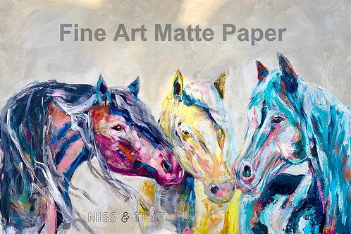 Print- 3 Horses