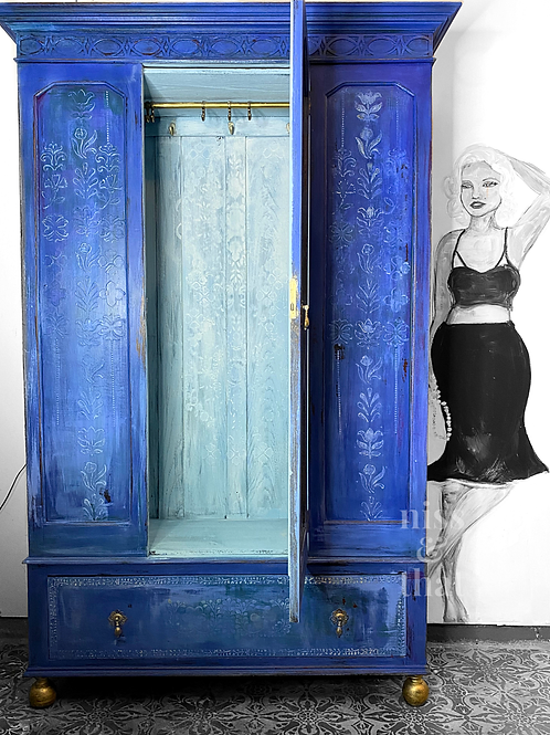 Cobalt blue armoire