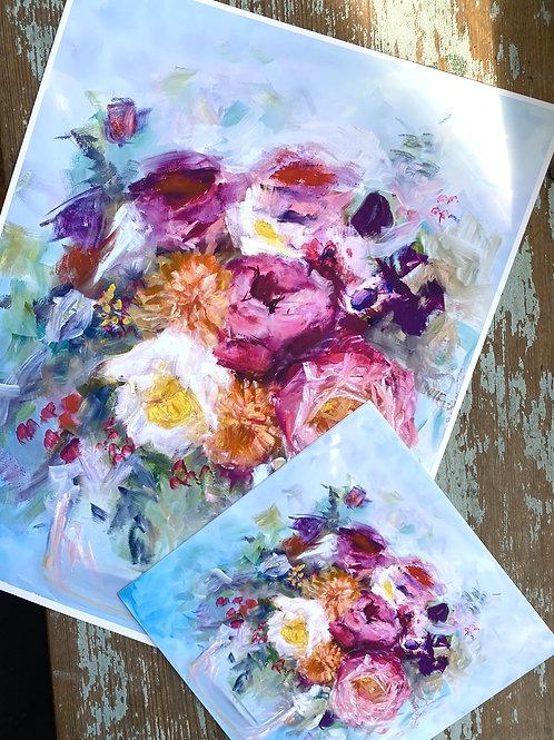 Print- Blue Sky Florals