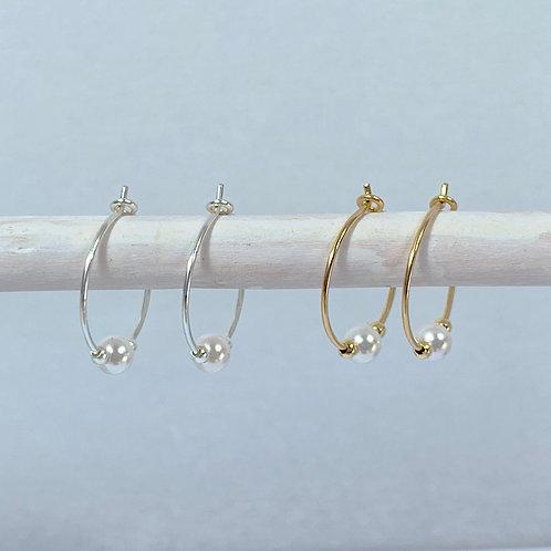 June Birthstone Earrings - Pearl