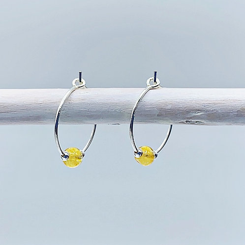 November Birthstone Earrings - Citrine