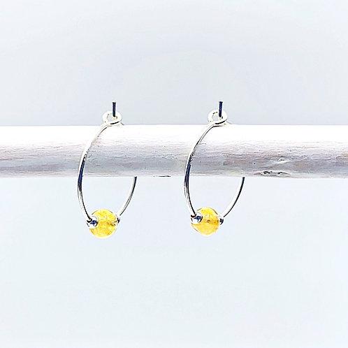November Birthstone Earrings - Citrine