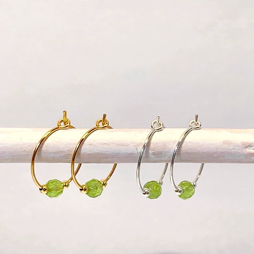 August Birthstone Earrings - Peridot