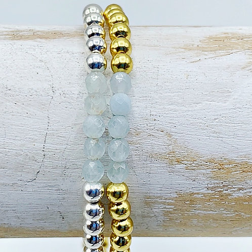 March Birthstone Bracelet - Aquamarine