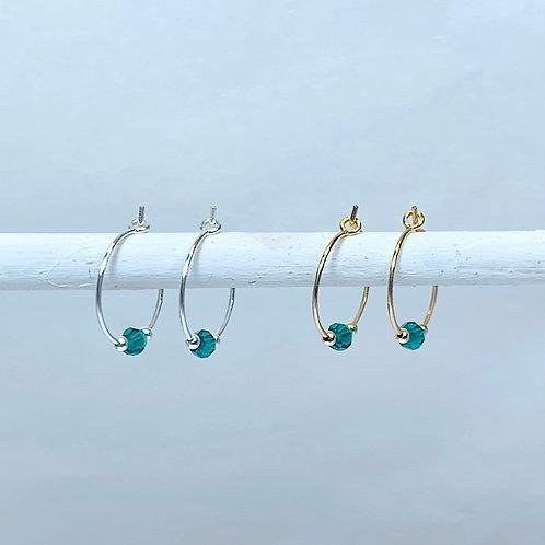 May Birthstone Earrings - Emerald Swarovski Crystals