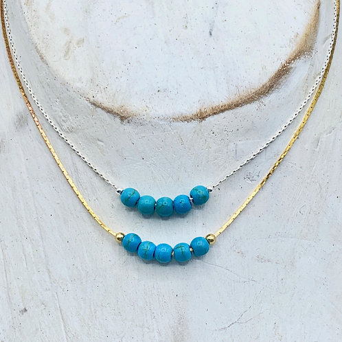 December Birthstone Necklace - Turquoise