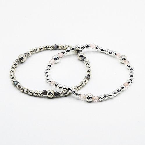 Hammered Stacking Bracelets