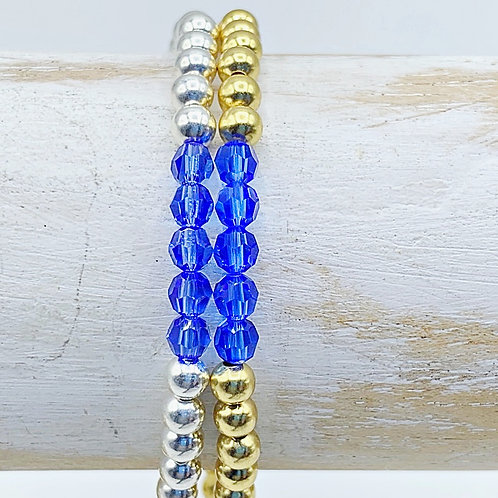 September Birthstone Bracelet - Sapphire Swarovski Crystals