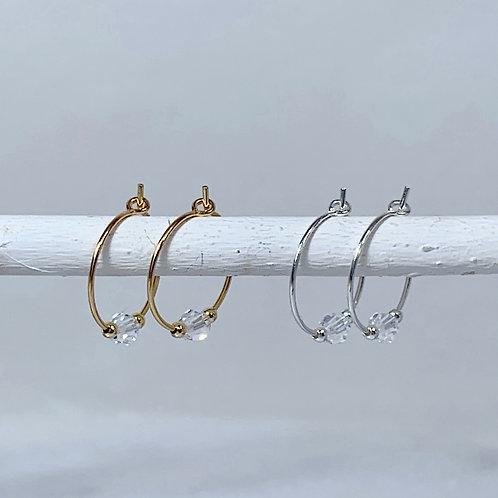 April Birthstone Earrings - Diamond Swarovski Crystals