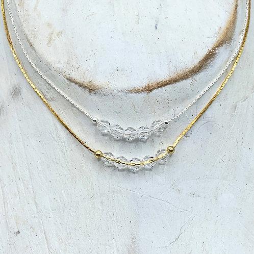 April Birthstone Necklace - Diamond Swarovski Crystals
