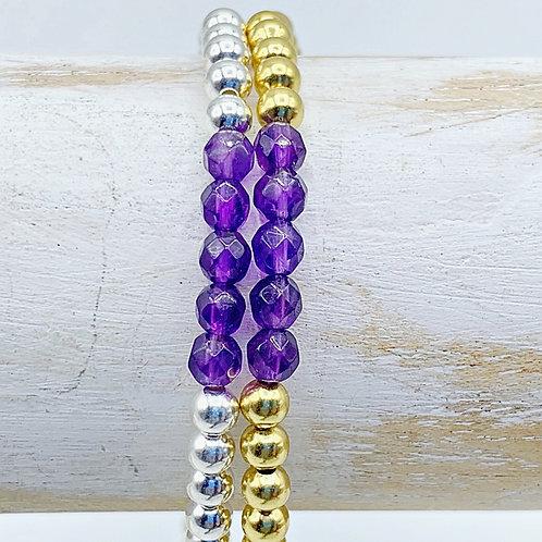 February Birthstone Bracelet - Amethyst