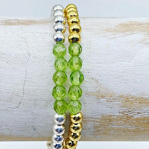 August Birthstone Bracelet - Peridot