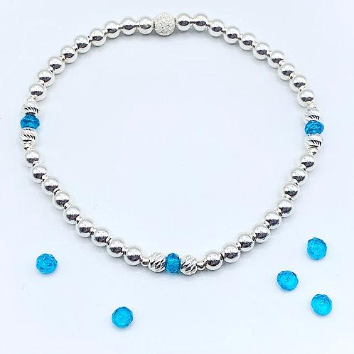 Swiss Blue Topaz bracelet