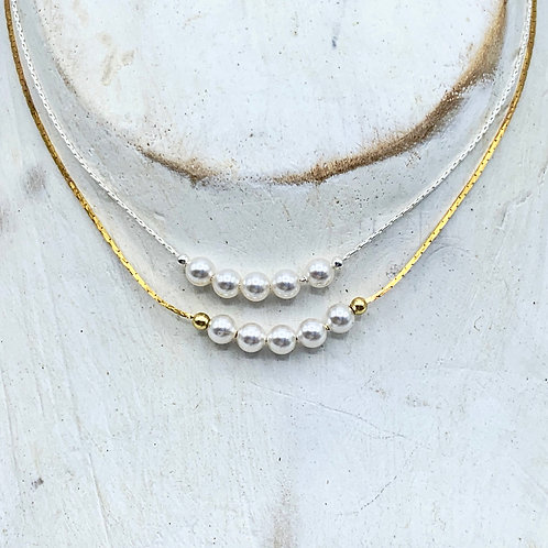 June Birthstone Necklace - Pearl