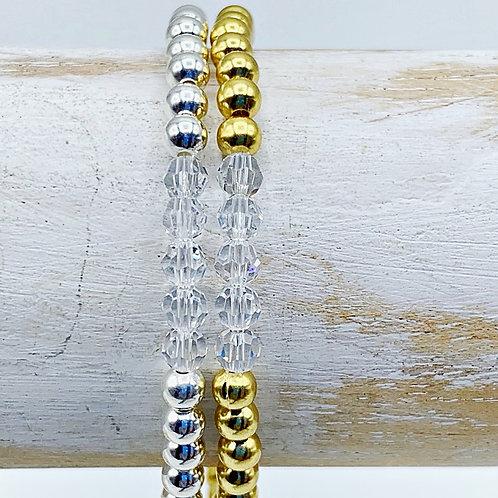 April Birthstone Bracelet - Diamond Swarovski Crystals