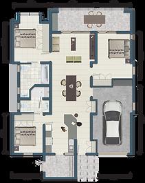 3 Bedroom Garden Unit
