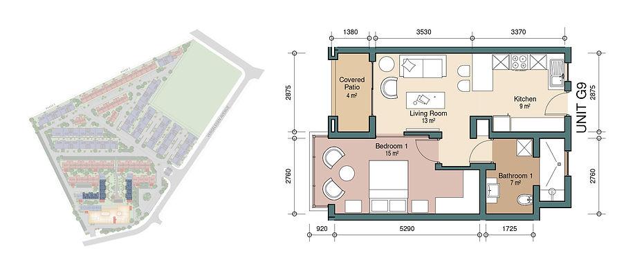 2 Bedroom Garden Unit
