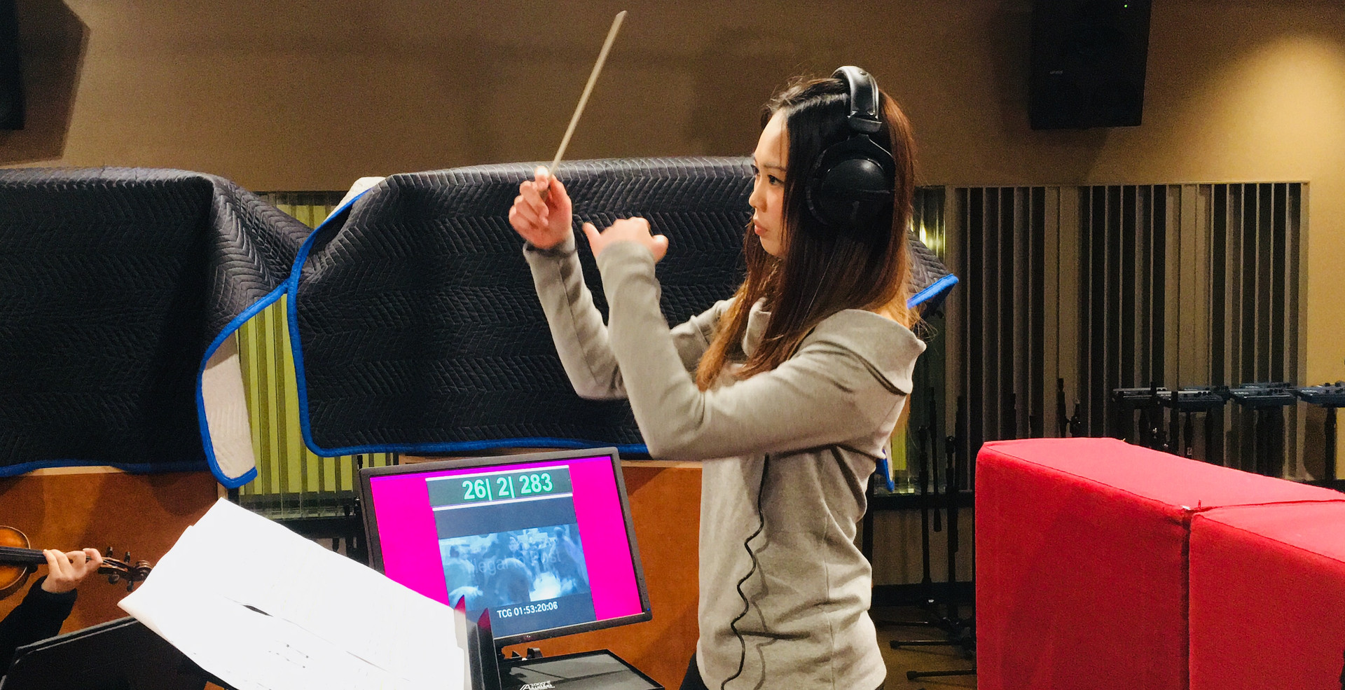 Conducting for Recording Session